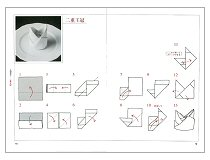 テーブルナプキンの折り方130種(見本)