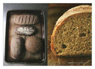 ベッカライ・ビオブロートのパン(見本)