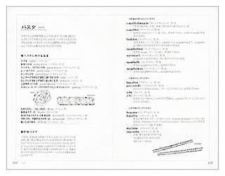 イタリア料理基本用語(見本)